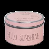 Sojakaars in blik Roze-Hello Sunshine- Geur Green teatime_