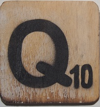 Letter  Q   6x6cm   blanco