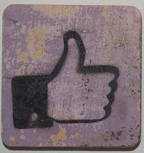 facebookduim    6x6cm  lila