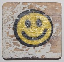 smiley   6x6cm  wit