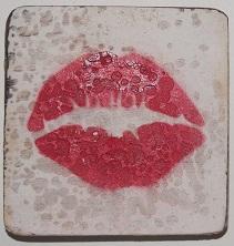lippen  6x6 cm wit