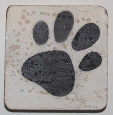 hondepootje 6x6 cm wit