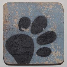 hondepootje 6x6 cm lichtblauw