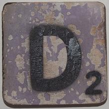 Letter D 6x6cm lila