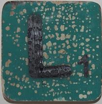 Letter L  6x6cm turqouise