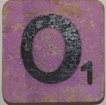 Letter O  6x6 cm lila