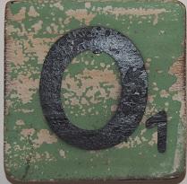 Letter O  6x6 cm mintgroen