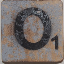 Letter O  6x6 cm wit