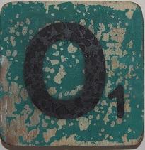 Letter O  6x6 cm turqouise