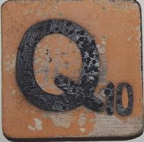 Letter  Q   6x6cm  oranje