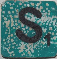 Letter S  6x6cm turqouise