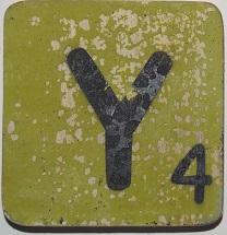 Letter Y  6x6cm mintgroen