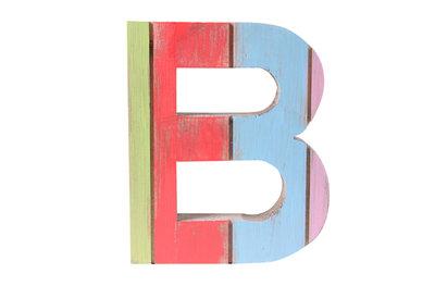 roots joy letter b Afmeting letter 14 x 15