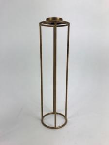 T-light holder BLUE GOLD XL 10x10x35cm
