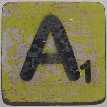 Letter A 6x6 cm appelgroen kleur
