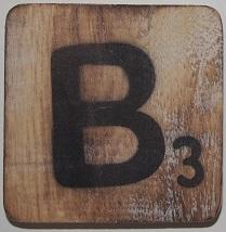 Letter B 6x6 cm blanco