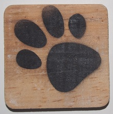 hondepootje 6x6 cm blanco
