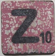 Letter Z 6x6cm aubergine