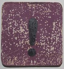 !  teken 6x6cm aubergine